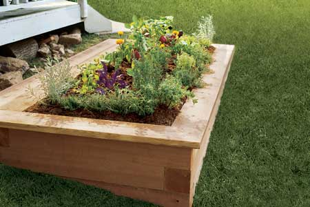 diy touches of build id planter large a garden bed raised finishing picture